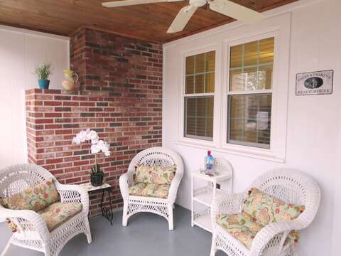 A great spot to enjoy your favorite libation. Fully screened-in porch - 22 Muscovy Lane West Yarmouth Cape Cod - New England Vacation Rentals