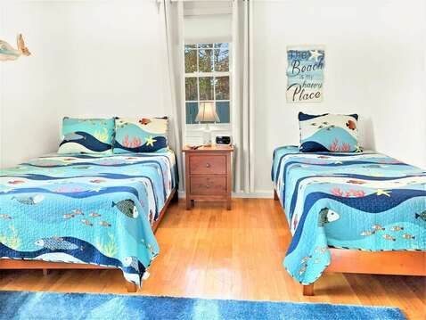 Bedroom 2 with 1 Double and 1 single bed - 22 Muscovy Lane West Yarmouth Cape Cod - New England Vacation Rentals