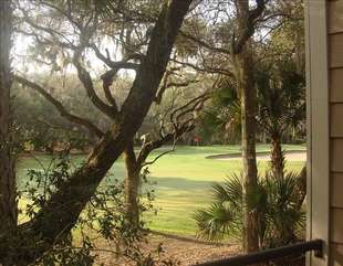 Enjoy watching golfers as they play through the 8th fairway of Ocean Winds.