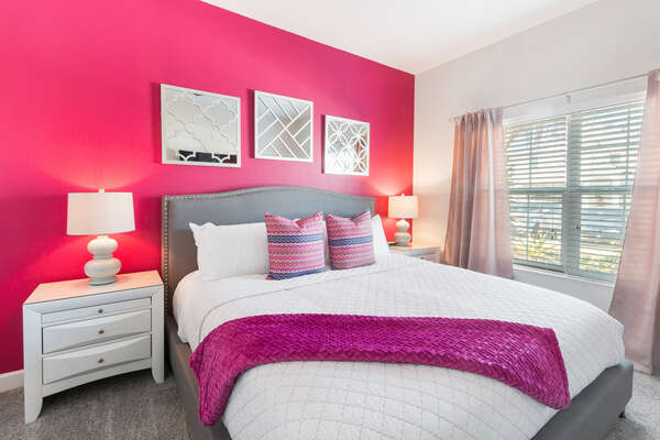 Master Suite 1 is located on the ground floor with a king size bed