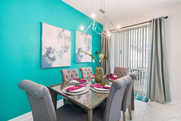 Formal dining area for 6
