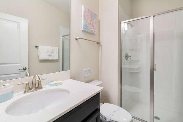 A family shared bathroom located on the ground floor