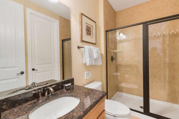 En-suite bathroom has a walk-in shower