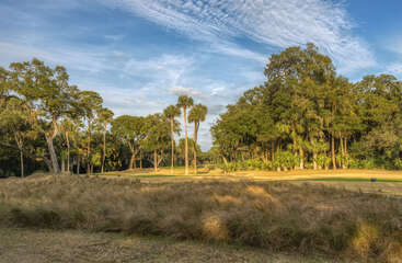 Enjoy the low country views and the 17th fairway of Crooked Oaks golf course