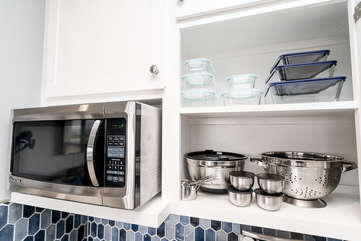 Everything you need for whatever kind of cooking or baking you'd like to do on your getaway with A Stay Above The Rest!
