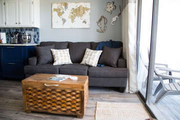 We provide a very comfortable sleeper sofa by adding a memory foam topper!
