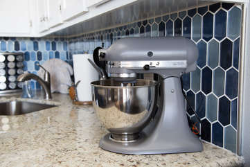 Don't forget to get that cake mix!  We have the kitchen aid mixer for you to use!