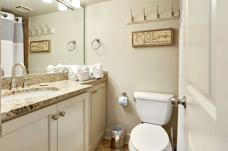 Full Guest Bath with Granite Counter Top