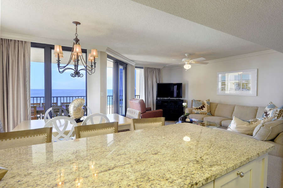 Magnificent Kitchen with Stainless Steel Appliances, Granite Counter Tops and Fantastic Views