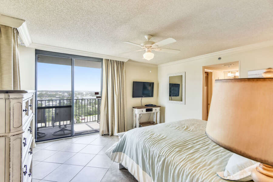 Master Bedroom with a King Size Bed and Private Balcony
