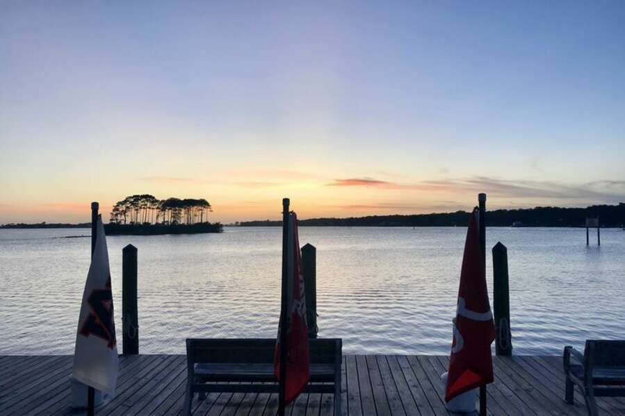 View from Holiday Harbor Marina while dining at Sunset Grille
