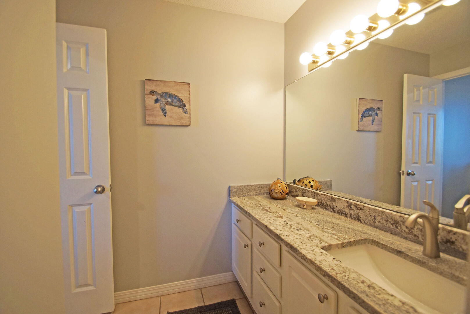 New counter tops in the master bath.