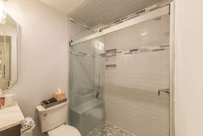 Newly renovated tile shower