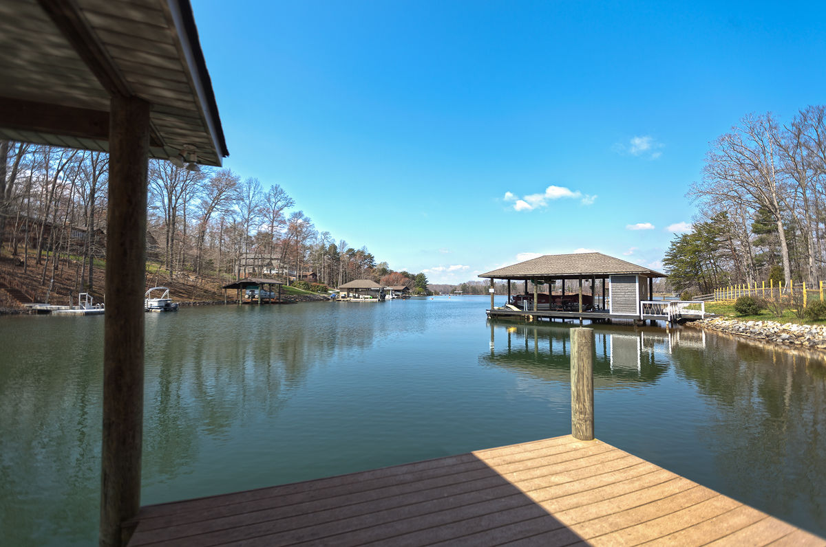 View of the Lake from the Dock of our Smith Mountain Lake Luxury Vacation Rental