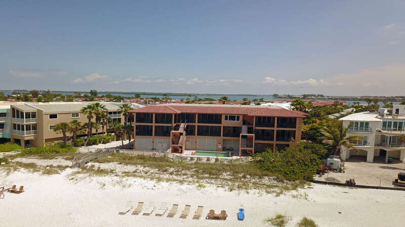 Bradenton Beach Club from the beach