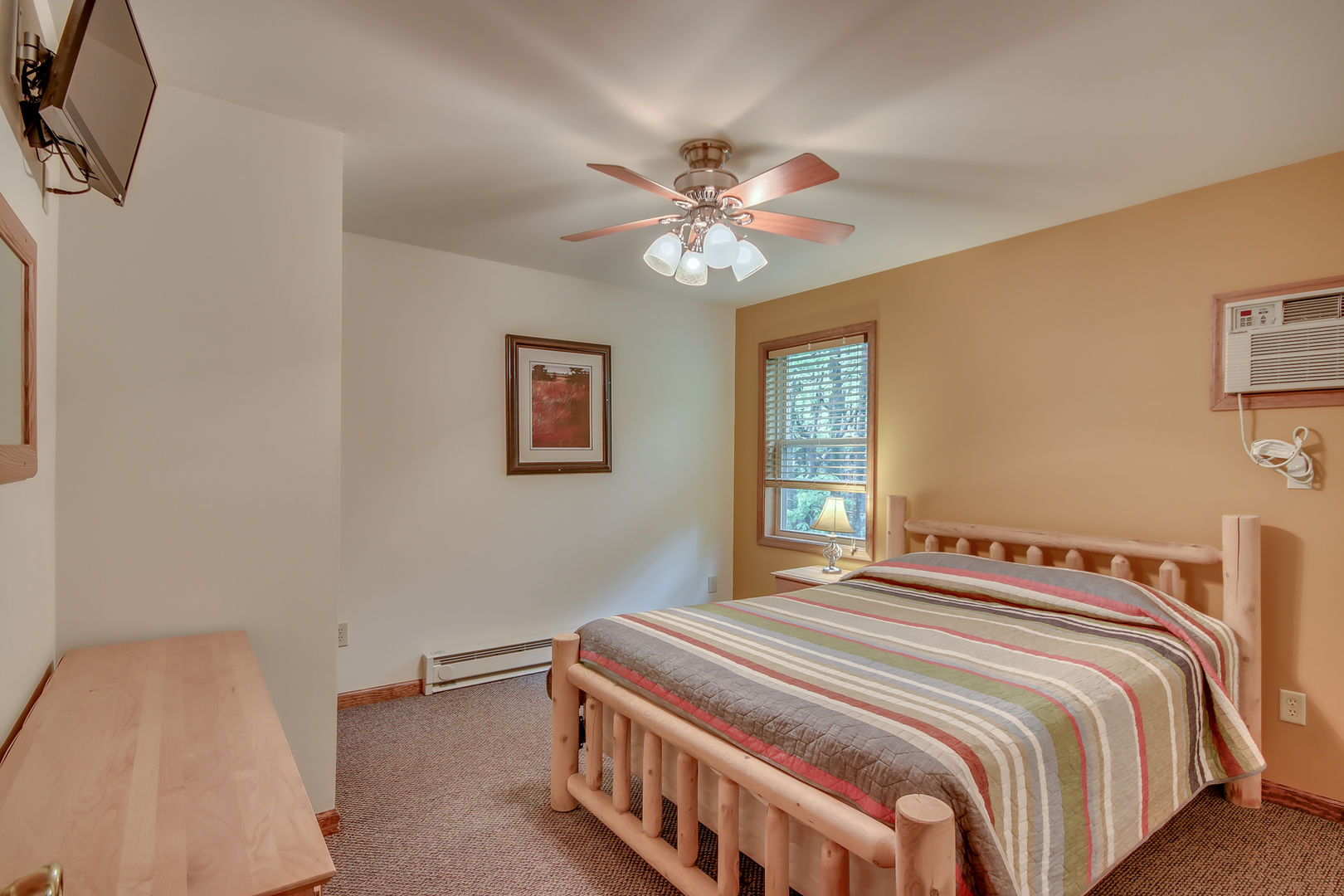 A Bedroom in Our Pocono Mountain Lakefront Rental.