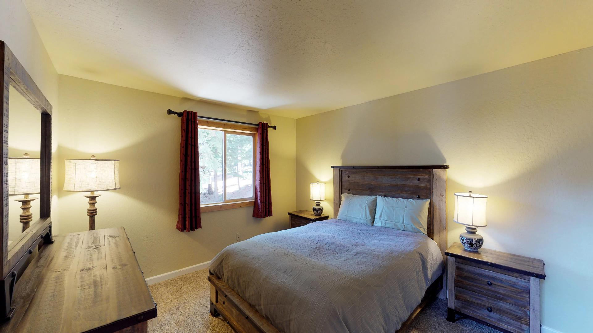 Bright and Spacious Bedroom in our Truckee Cabin Rental