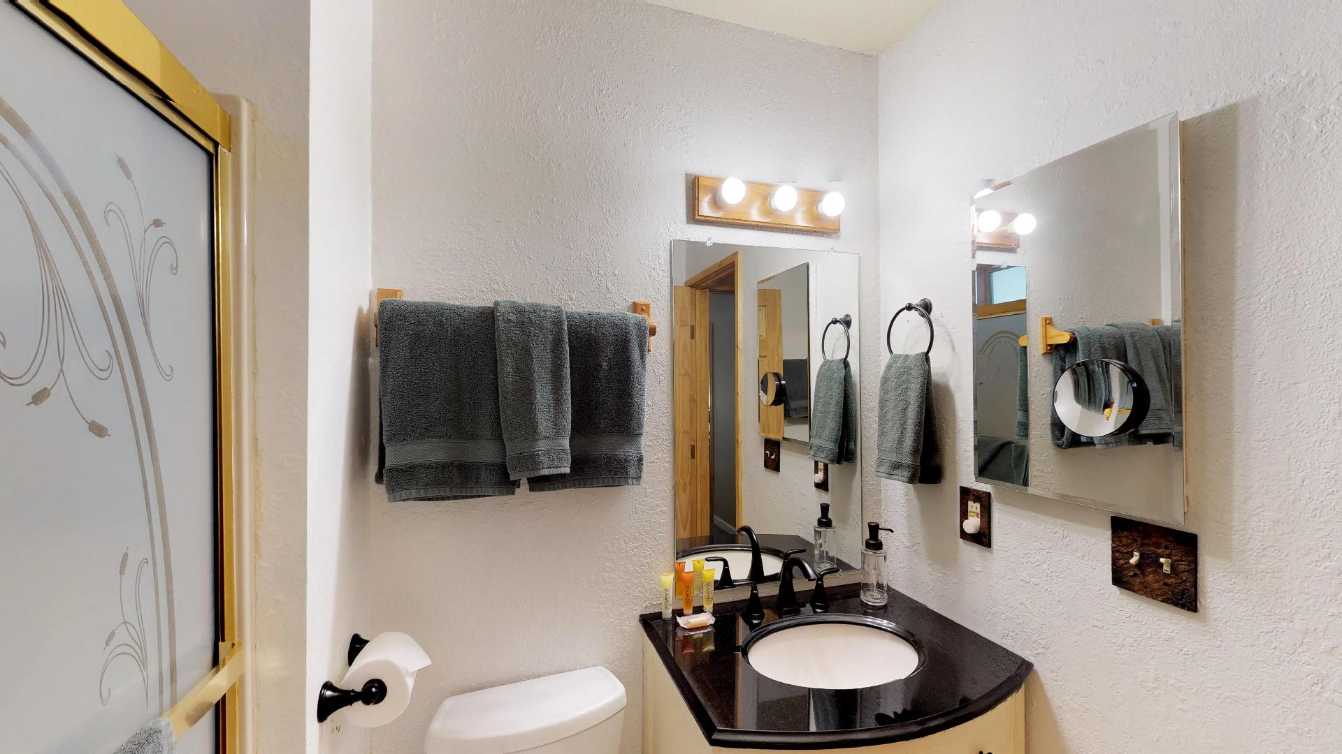 Bathrooms Come Equipped with Linens for Guests