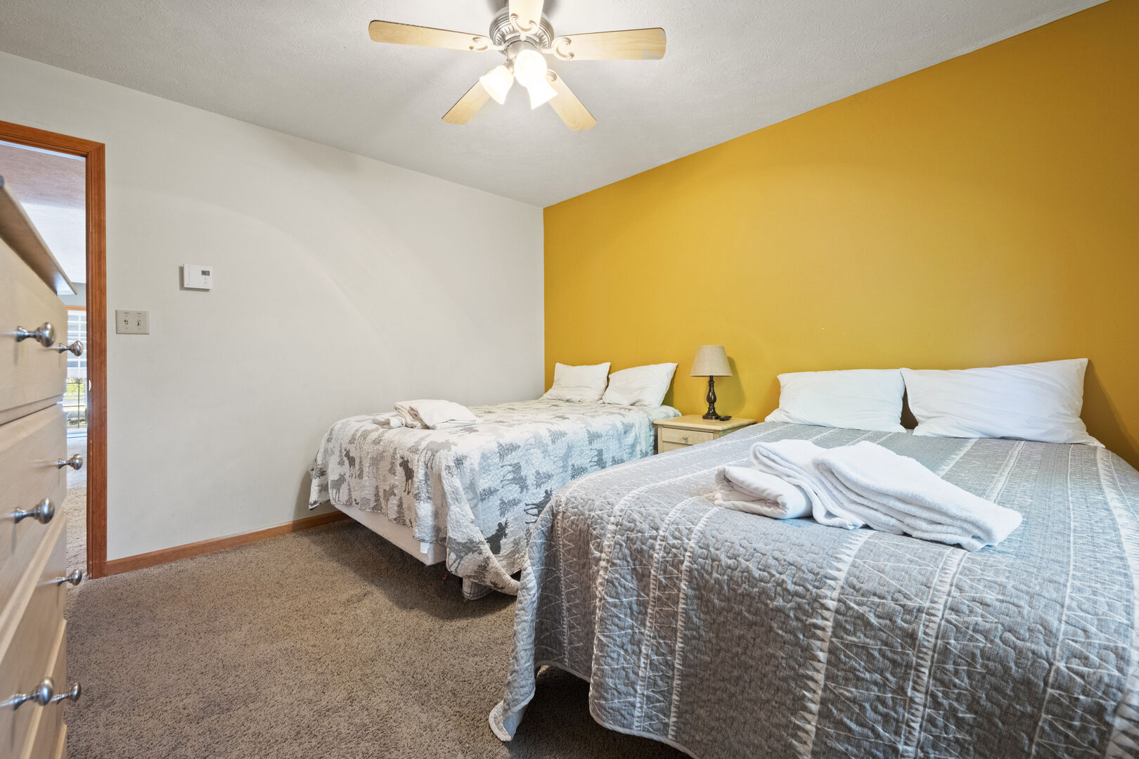 Two beds in one of this rental's bedrooms