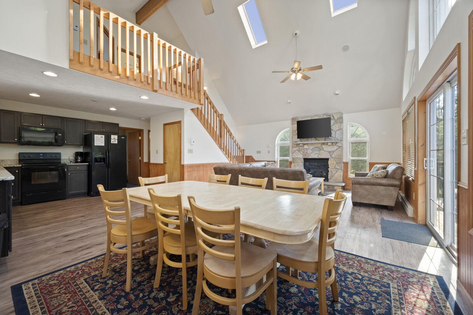 Dining room area with nearby staircase
