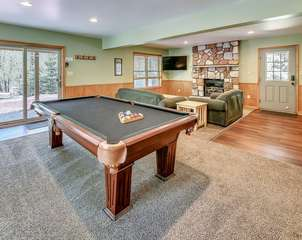 Game Room inside the Coyote Poconos Lodge Rental