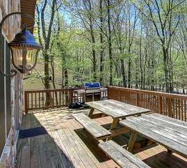 Picnic Table Seating and Grill on the Deck