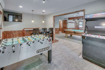 Game Room with Foosball, Arcade, and Pool Table in On The Rocks