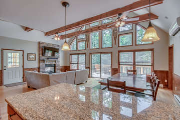 Great Room and Panoramic Views in our Poconos Vacation Home