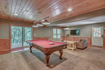 Game Room in our Vacation Rental Near Poconos
