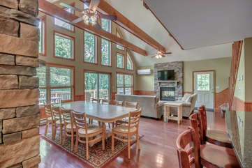 Great Room with Dining and Seating Areas