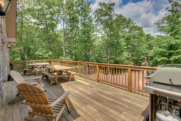 View from Deck at our Poconos Vacation Rental - Snowcap