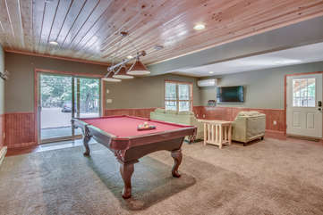 Game Room with Pool Table in our Poconos Vacation Rental