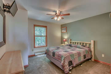 Bedroom with Large Bed and Cozy Linens