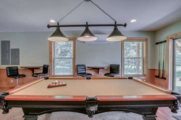 Game Room in our Pocono Mountain Vacation Rental