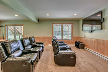 Theater Room in our Pocono Mountain Vacation Rental