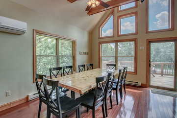 Dining Table with Chairs in our Pocono Mountain Vacation Rental