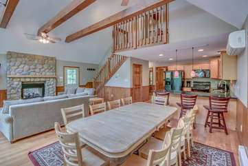 Picture of rental dining room with view of stairs
