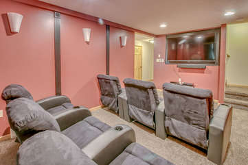 Theater Room with flat screen TV