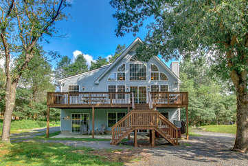 Exterior View of our Poconos House Vacation Rental - Sycamore