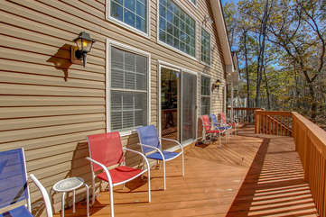 Backyard Deck of the Rental