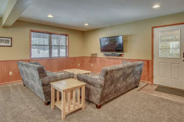 Game Room with two couches and TV