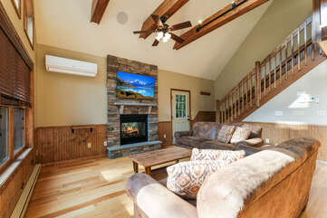 Great room in this gorgeous Poconos Vacation Home