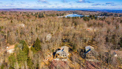 Aerial view of Eagle's Nest Rental