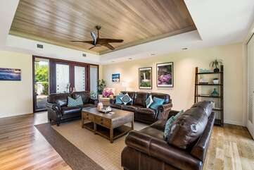 Sofas and Ceiling Fan in the Living Area