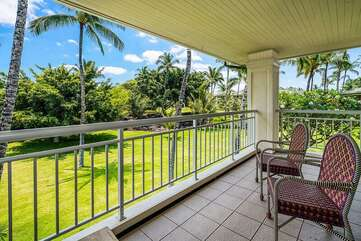 Master Bedroom Lanai with Outdoor Chairs