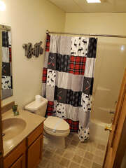 Shot of bathroom with shower