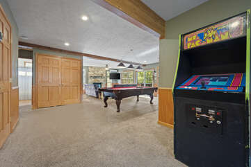 Ms. Pac-Man Arcade Game in the Game Room