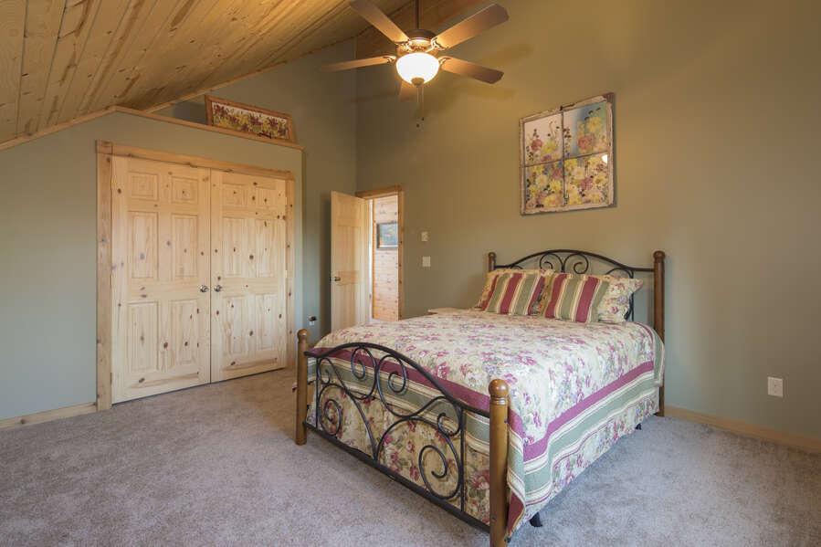 Duck Duck Goose ~ bedroom #2 on upper level w/ queen bed