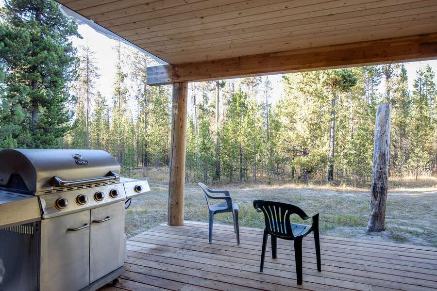Grey Wolf Retreat ~ propane grill