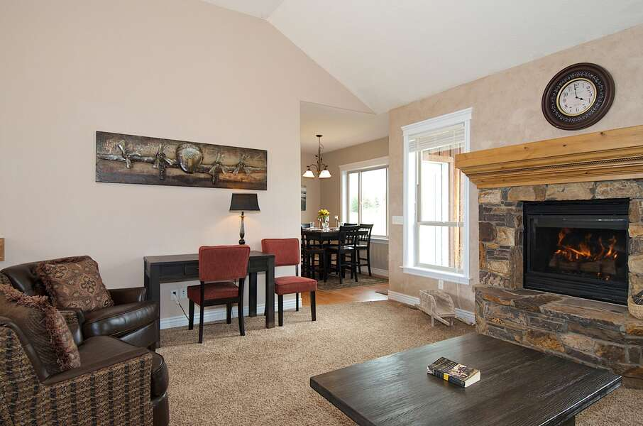 Teton Harmony ~ fireplace ~ function over fashion ~ is a heat source operated by thermostat, NOT an on/off switch